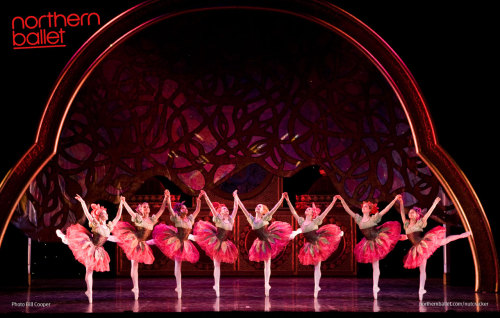 Northern Ballet dancers - the Flowers in The Nutcracker. Photo Bill Cooper.
