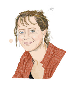 A portrait of scientist Kathy Sykes
