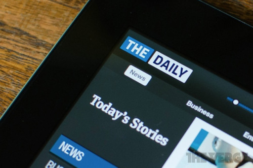 thisistheverge:  First iPad-only newspaper 'The Daily' shutting down on December 15th  :( A real heartbreaker. As you guys might know, some of SFB's staff worked for The Daily until a recent round of layoffs. (I also did a piece for the publication a while back.) Peter, who you might know as BrooklynMutt, also worked on it. They also ran one of the best big-media Tumblrs. It was a great publication with solid design and a forward-looking approach — a real trailblazer. Its death is all-around sad. — Ernie @ SFB