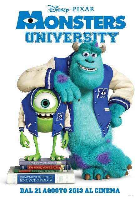 #MonstersUniversity l Italian Poster (via Monsters University – Si torna al college dei mostri con Mike e Sulley nel poster italiano | Il blog di ScreenWeek.it)