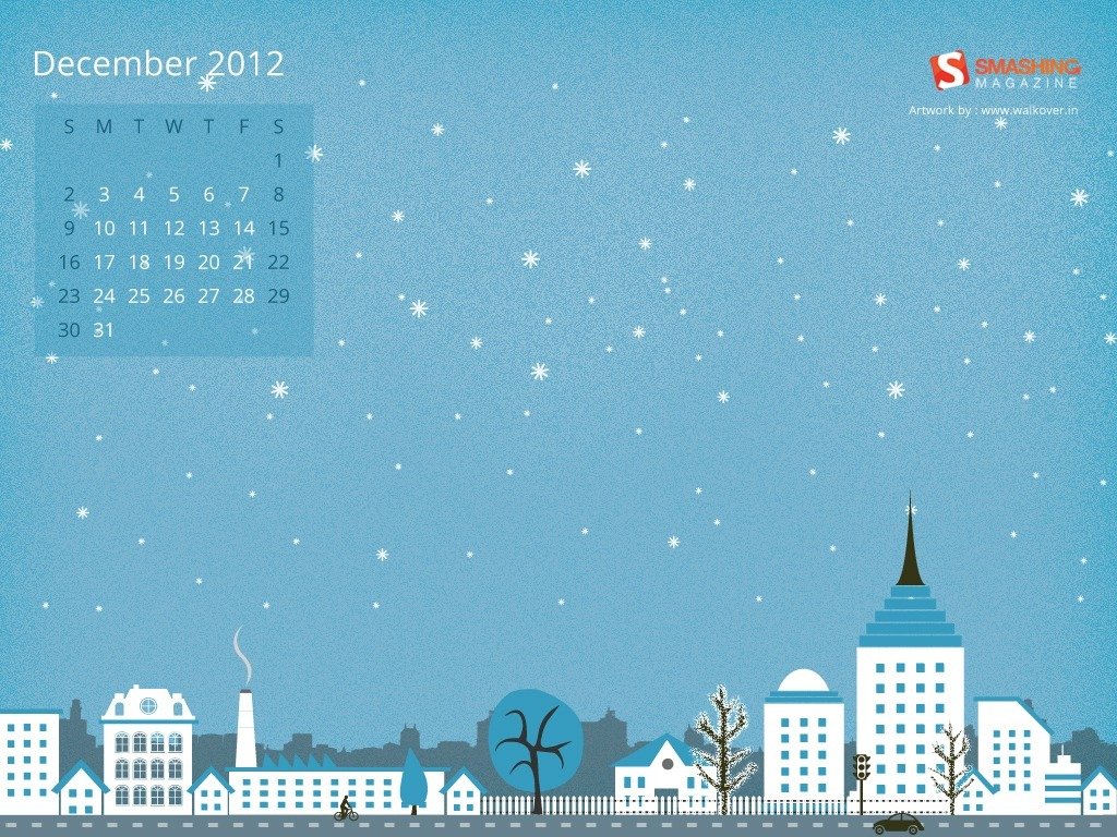 December desktop wallpaper by Sarfaraz Ansari