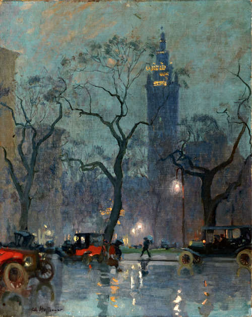 ckck:  Madison Square Park, New York City by Charles Hoffbauer, circa 1910s.