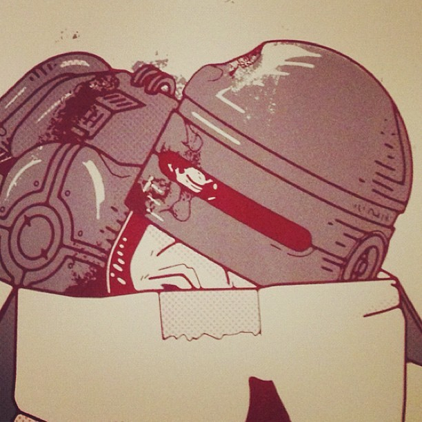 A peek of my Robocop piece for the Alternate Ending show.