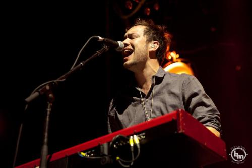 Ben Lovett of Mumford & Sons performs at the Sydney Entertainment Centre on 18th October 2012. Photo © Blue Moon Photography.