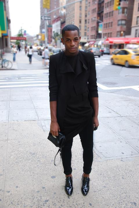 morbidfashion:  blackfashion:  Mario HorneLocation: NYChttp://leopardmilkshake.com #Blackfashion FacebookTwitter @BlackFashionby  The shoes are fan-fucking-tastic.