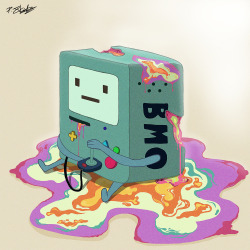 Beemo - Meltdown Some Adventure Time fan art, since all my classmates seem to be addicted to this program! I took some inspiration for this idea from Sachin Teng after seeing some of their awesome illustrations!  I hope you like it, anyways :)