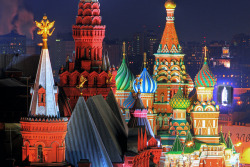 travelthisworld:   Moscow's Cathedral and Towers ♦ Moscow, Russia | by b80399