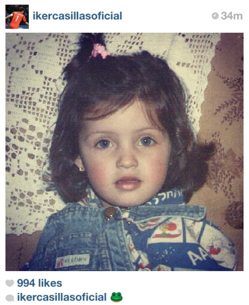 "iker is practically throwing this in our face saying ""here's baby sara, now just imagine, fangirls, what lovely smoochy angelic amaysin babies we could have"""