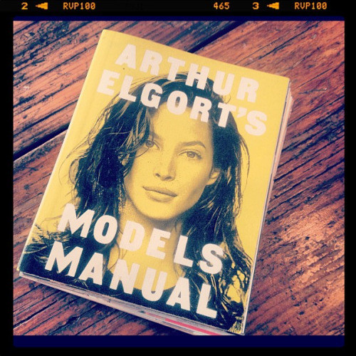 Read all about it! Arthur Elgort's Models Manual. A little gem found on today's set.  Photographed by Elaine Welteroth