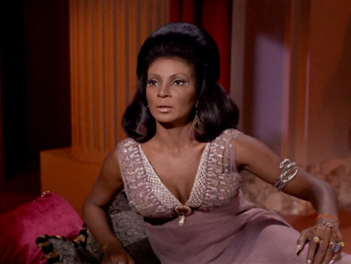 I was named after Nichelle Nichols, so she has always had a special place in my heart. In this screen grab, she is in her most famous role, Lt. Uhura of STAR TREK, in the episode 'Plato's Stepchildren,' which aired on November 22, 1968. Photo by CBS via Getty Images.