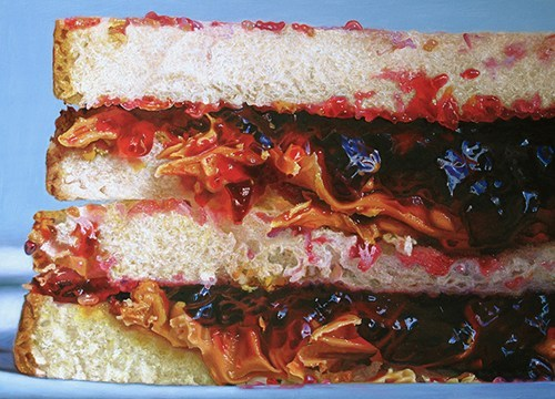 PB&J 1/2 (2012), oil painting by Mary Ellen Johnson