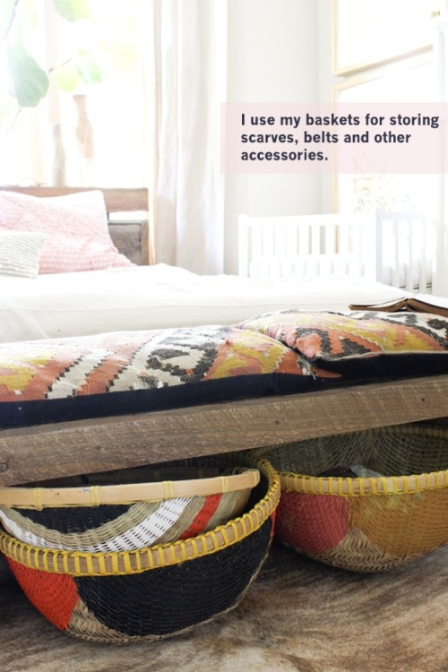DIY painted baskets, via The Marion House Book