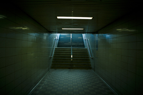 Stairs. Bathurst subway station. nov 2012.