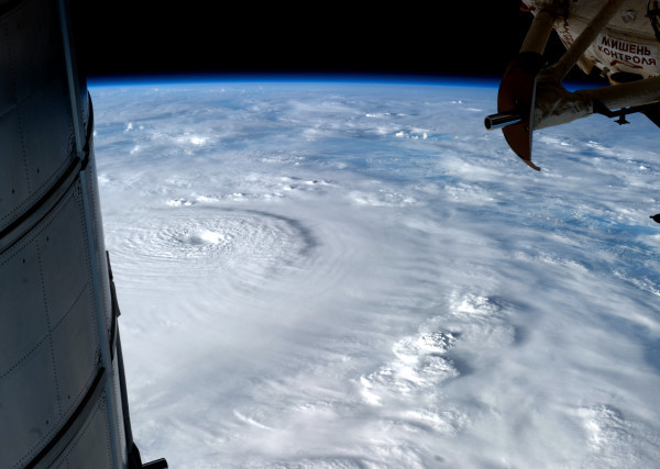 Typhoon Pablo from the Johnson Space Center Holy shit.  Pablo is a big boy. He slowed down for a while, but he's back up to Super Typhoon (Cat 5) status. He hits the south of Philippines in the morning. The whole country is braced. Strongest typhoon in 22 years. Currently 260 km/hr. Here's hoping for the best for those in his path. Stay safe and dry Mindanao, Visayas, Palawan.