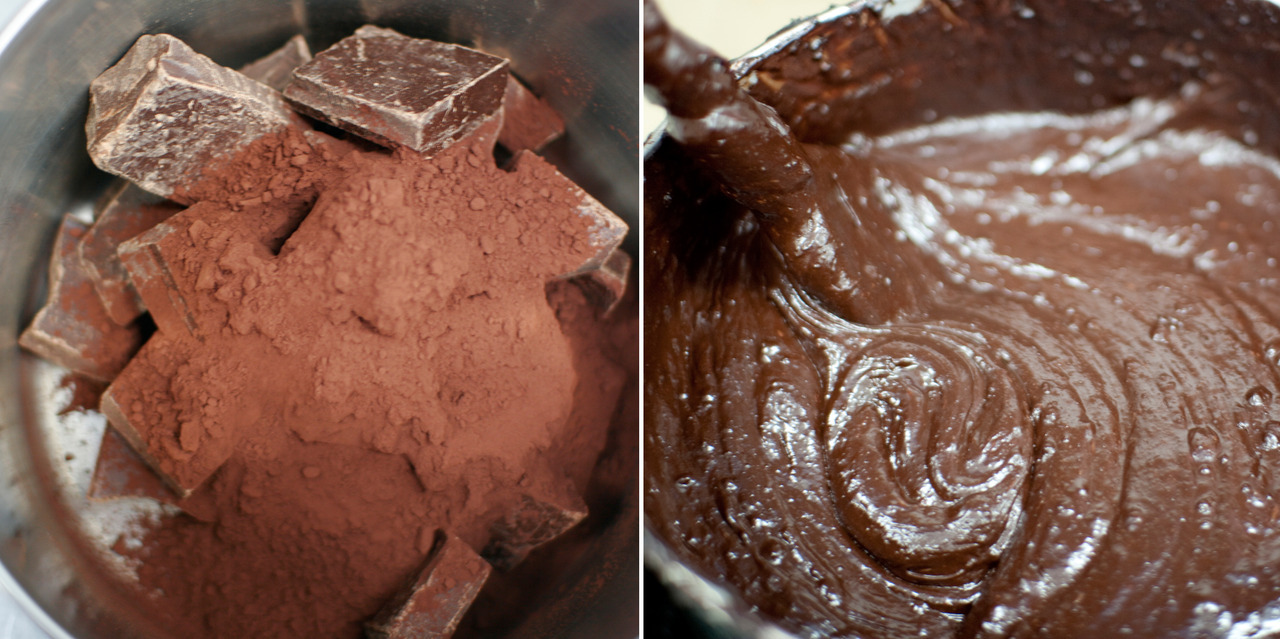milkmadeicecream:  The making of The Last Pint, Step 1: melt the chocolate.  This looks so good.(: