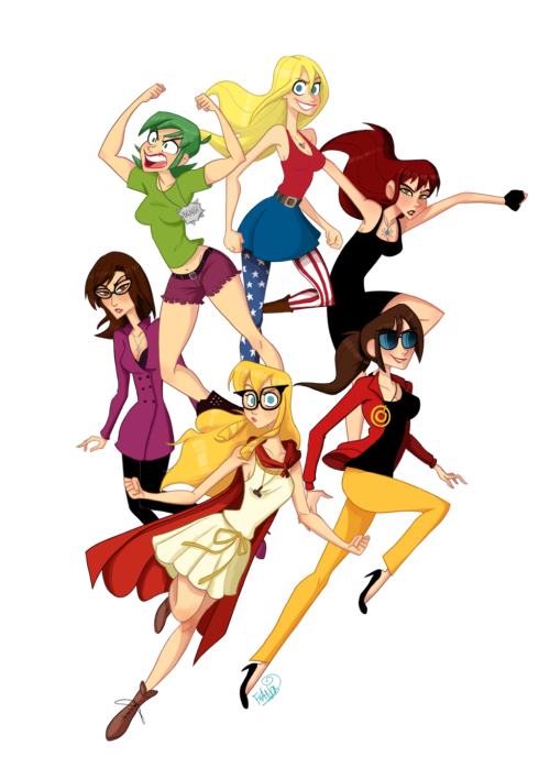 lulubonanza:  Avenger Girls by ~chillyfranco