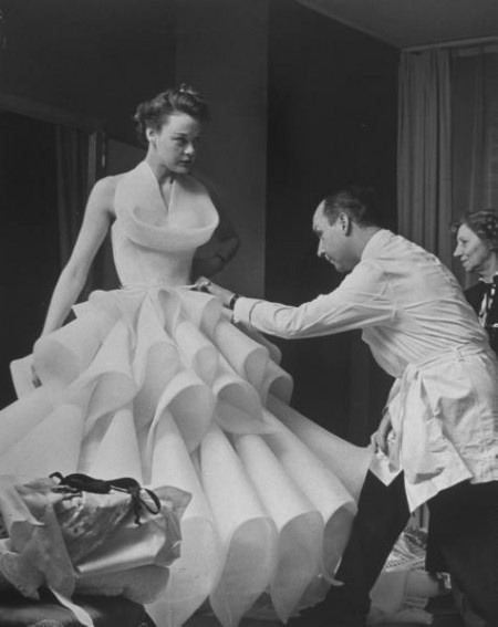 petitsluxes:  Vintage Tuesday: Christian Dior  Working on a masterpiece
