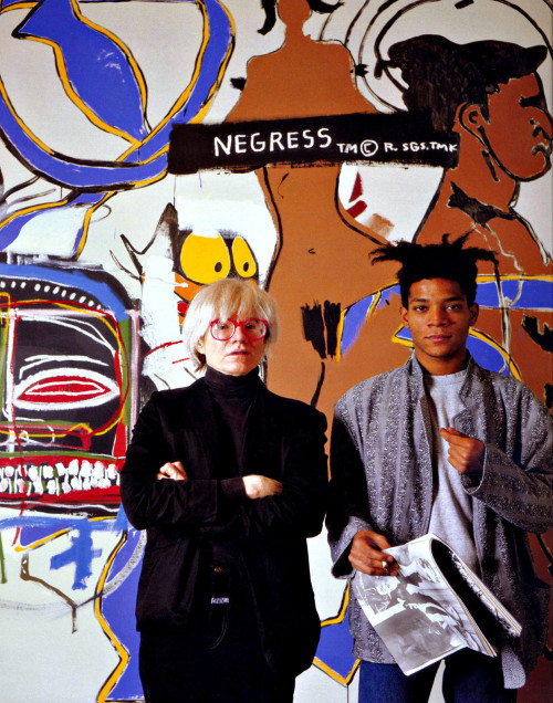 monkeypants:  Andy Warhol & Jean Michel Basquiat