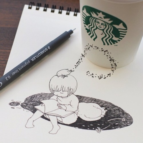Instagram artist tokomo shares photos of her art with more than 24,000 followers, which often incorporate a Starbucks cup into the design. It's a simple (and unpaid) placement, but a good reminder that creative content doesn't always need to be hitting the viewer over the head with logo placements and product shots.