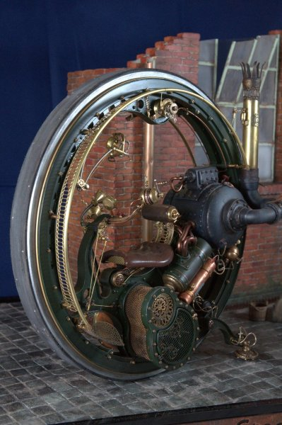 Modern Steam Monobike 1896 (1/7th scale) by Stefano Marchetti