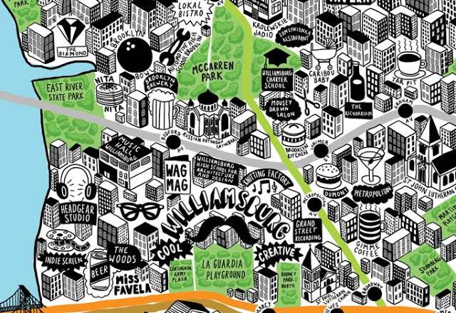 nevver:  Hand Drawn Map of New York, Jenni Sparks