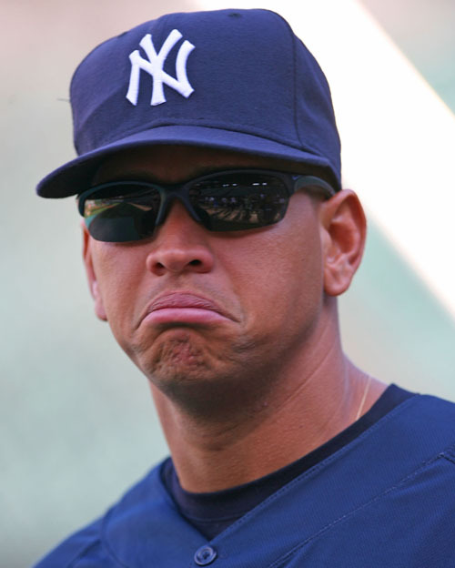 thesadyankees:  A-Rod has a sadz today, guyz. Poor poopsie.  In case you're wondering, I made this tumblr (thesadyankees.tumblr.com) as an outlet for my feelings.