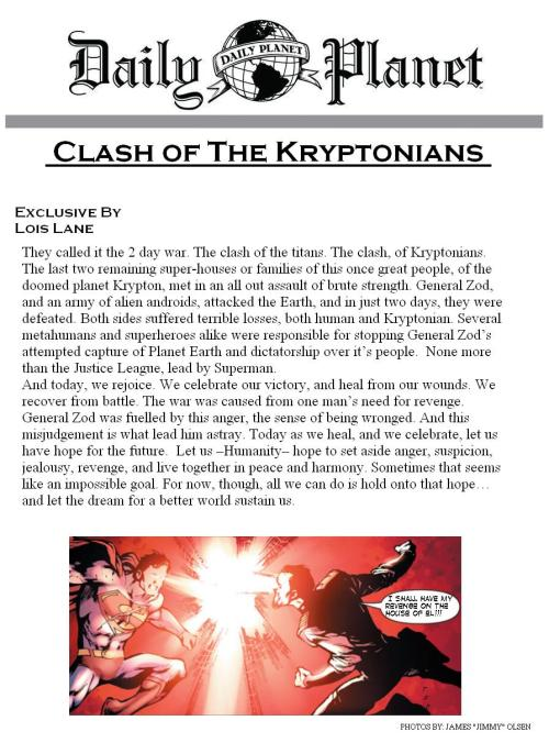 Clash of The Kryptonians by @LoisLaneDaily #KryptonianClash (Role-Play event attached to above hashtag)