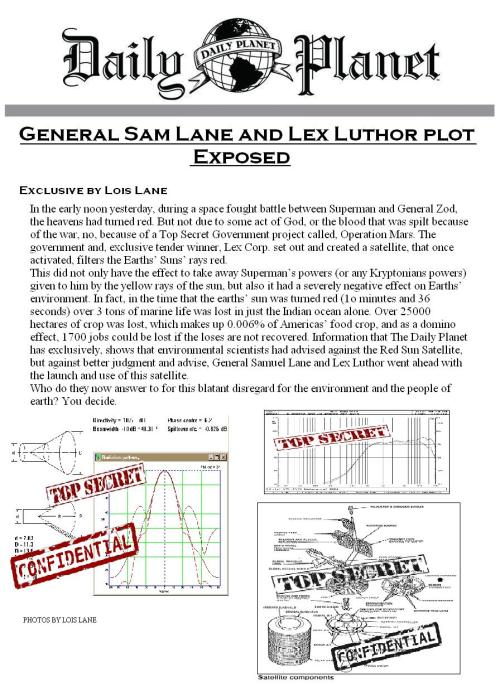 General Samuel Lane and Lex Luthor plot exposed by @LoisLaneDaily #KryptonianClash (Role-Play event attached to above hashtag)