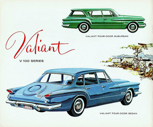 1961 Valiant V100 Four-Door Sedan & Suburban (Canada) by aldenjewell on Flickr.1961 Valiant V100 Four-Door Sedan & Suburban (Canada)