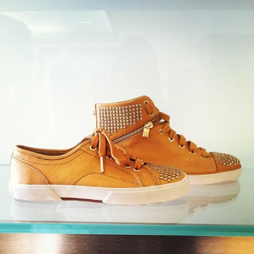 Must-have studded sneakers at Michael Michael Kors - love the high-tops!