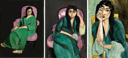 "Three portraits of Laurette (1916-17), a favorite Matisse model, as seen in a new show at the Metropolitan Museum of Art. The New York Times art critic Roberta Smith on ""Matisse: In Search of True Painting,"" exhibit, which opens to the public today at the Metropolitan Museum of Art: ""…one of the most thrillingly instructive exhibitions about this painter, or painting in general, that you may ever see. As ravishing as it is succinct, it skims across this French master's long, productive career with a mere 49 paintings, but nearly all are stellar if not pivotal works."" The Metropolitan Museum's Mary Clare McKinley, a co-curator of the exhibit, takes us into Matisse's process to explore his innovative, often radical, solutions to such problems as how to portray light, handle paint, select colors and manipulate perspective, at 92YTribeca on Feb 6."