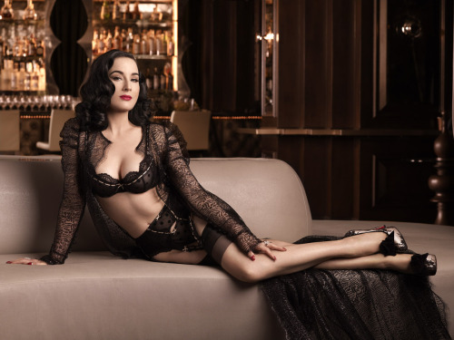 suicideblonde:  Dita Von Teese photographed by Albert Sanchez for Elle Men China, December 2012