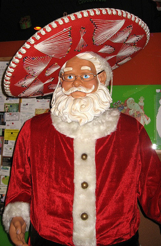 Santa evades authorities by staging elaborate distraction in Mexico.
