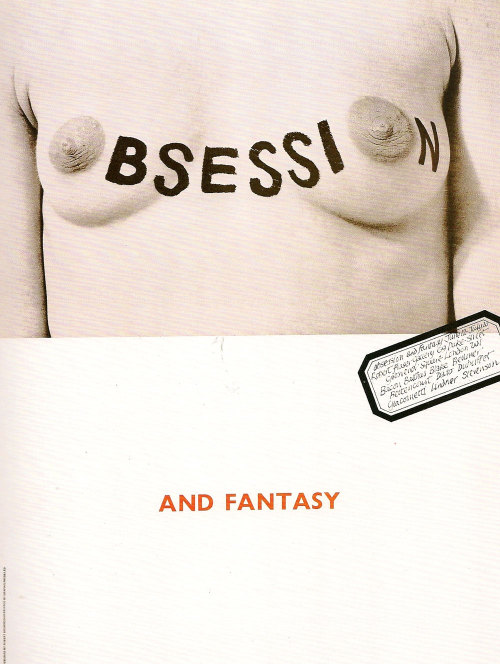 Obsession and Fantasy. Design by Robert Brownjohn