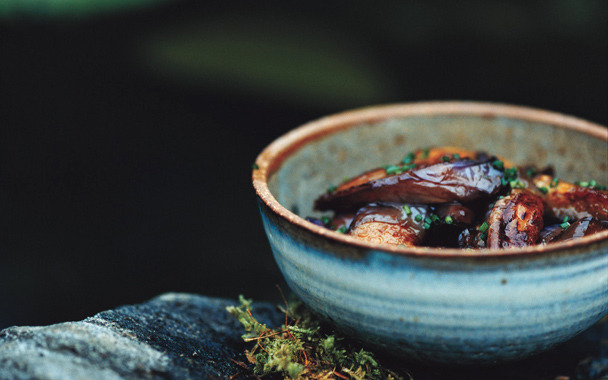 (via Spicy Glazed Eggplant: 2000s Recipes Menus : gourmet.com)