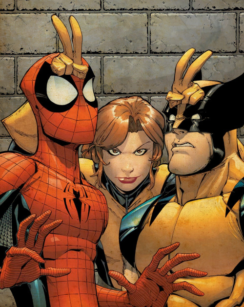 Spider-Man, Shadowcat and Wolverine