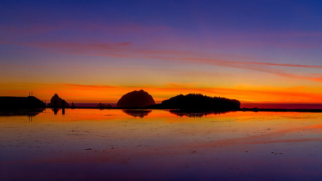 Reflected Sunset at Seal Rock on Flickr.Via Flickr: Here is another shot from Thanksgiving Night at Sutro Baths.  [Website] [facebook] [Google+] [Tumblr]
