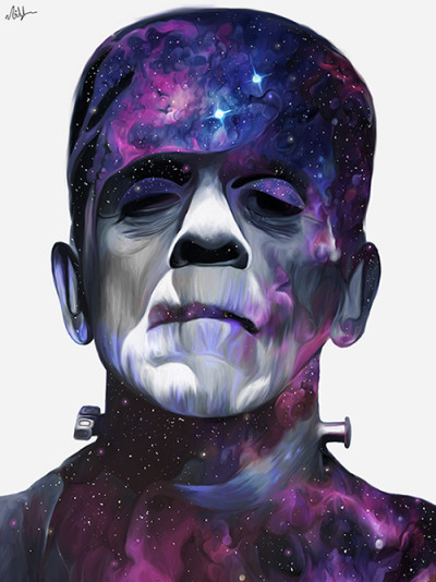 "nickybarkla-art:  ""Frankenstein's Monster"" By Nicky Barkla ""Everybody But Me"" http://nickybarkla.deviantart.com"