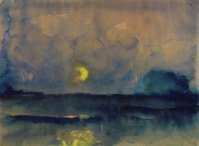 amare-habeo:  Emil Nolde (1867 - 1956 )Half moon over the sea, 1945