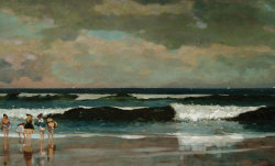 centuriespast:  Winslow Homer (1836-1910) On the Beach, 1869 The Arkell Museum