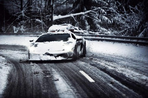 justanothertiburon:  Dashing through the snow, in a 500hp open sleigh.