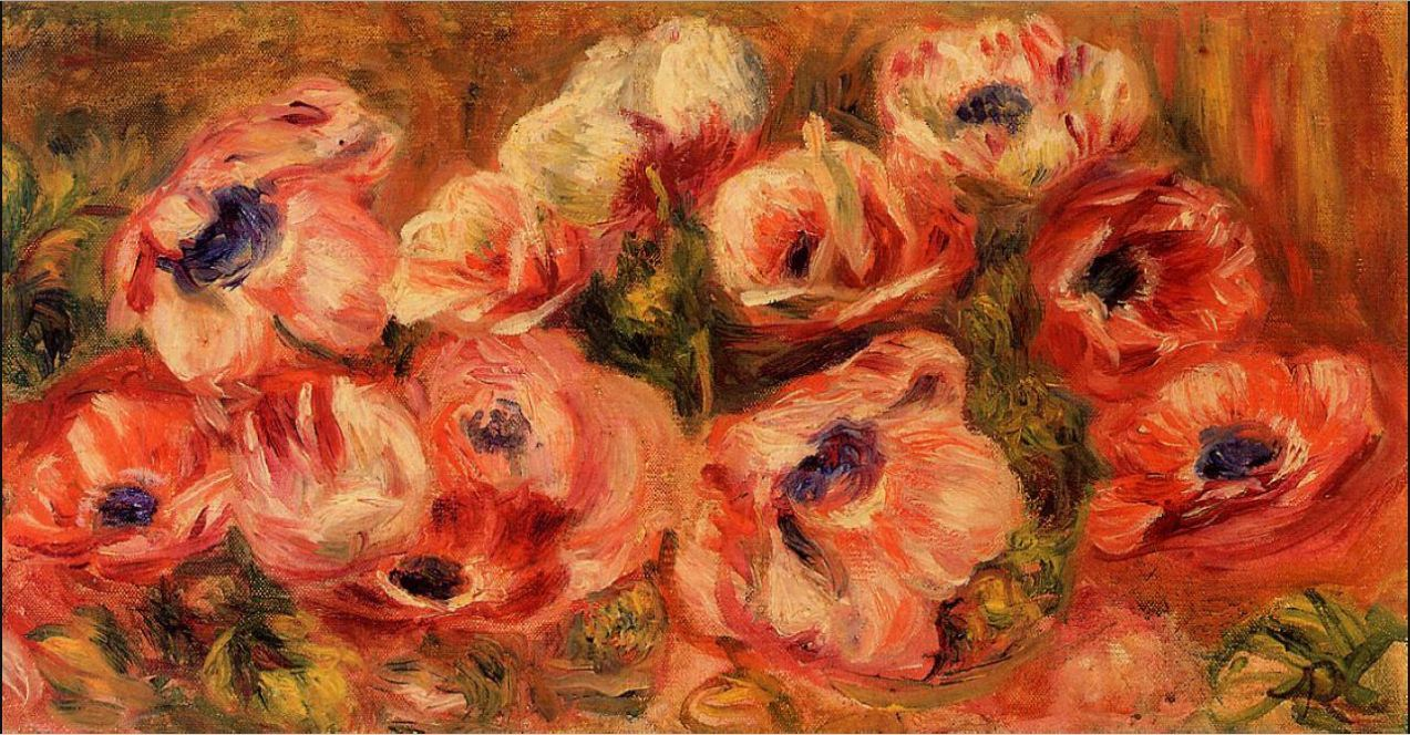 Renoir, Pierre-Auguste [French Impressionist Painter, 1841-1919] Anemomes, nd oil on canvas Praivate collection