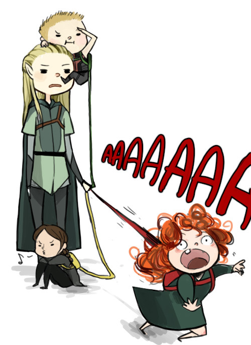 karinanirak:  unionforj:  capitol-refugee:  Legolas babysittin' this year's archers :)  this has to hit at least one of your fandoms.  OH MY GOODNESS