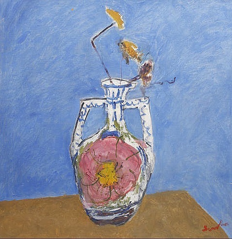 Christopher Sanders Still Life with Vase and Flowers 20th century