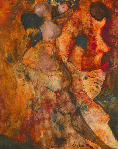 composition-improvisation:  Leonor Fini, Forêt, c. 1960