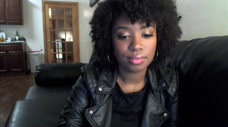I'm editing a video! I kind of look like if Sandy from Grease was black and YABETTASHAPEUPCAUSEINEEDAMAN AAAANDMYHEARTISSETONYOUUUUUUUUU. Okay. As you were.