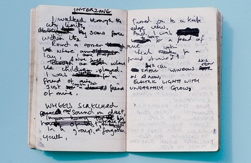Joy Division - Interzone lyrics written in Ian Curtis' Journal