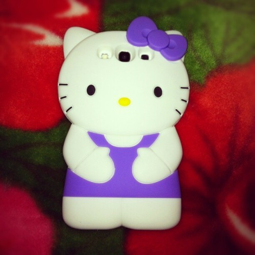 New case for my galaxy ♥ #HelloKitty #Galaxy #case #purple #hearts #love