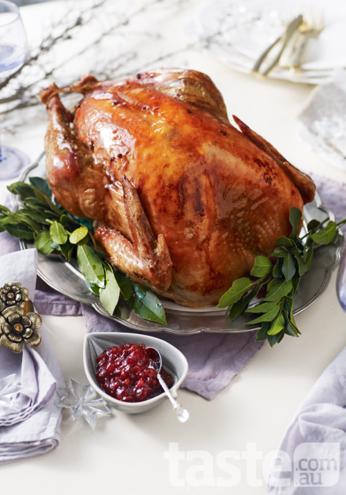 Carve up this magnificent maple-glazed turkey for Christmas! (Photography by Andy Lewis; Recipe by Valli Little).