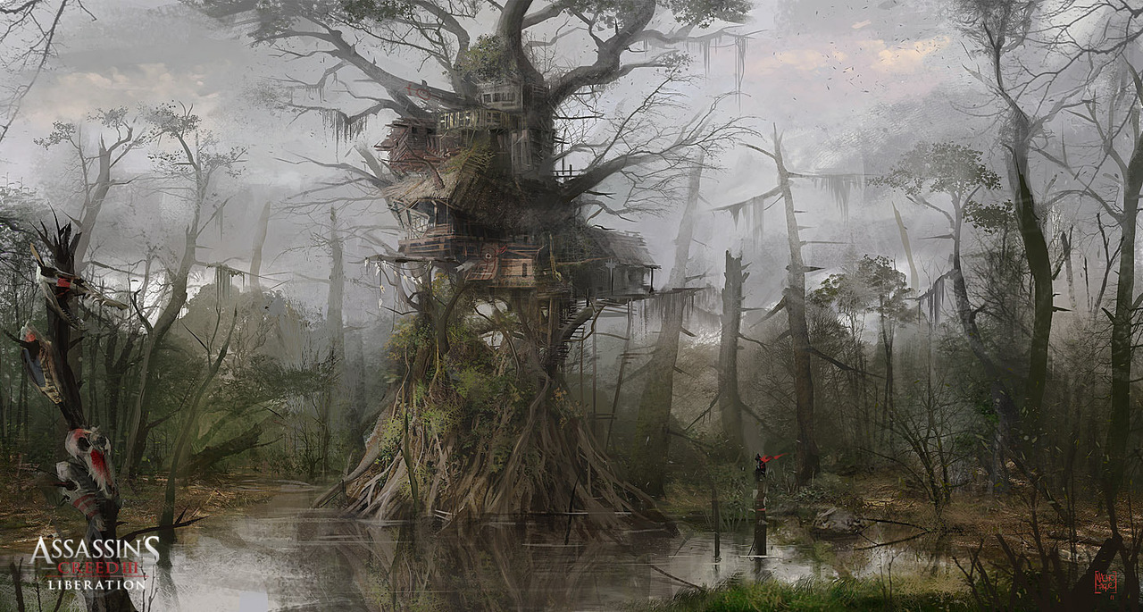 ASSASSIN'S CREED 3 :LIBERATION . Swamp Tree 02 by Nacho Yagüe
